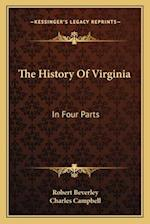 The History of Virginia af Robert Beverley