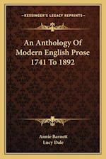 An Anthology of Modern English Prose 1741 to 1892 af Annie Barnett, Lucy Dale