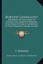 Burgess Genealogy af E. Burgess