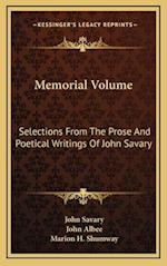 Memorial Volume af John Savary