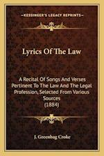 Lyrics of the Law af J. Greenbag Croke