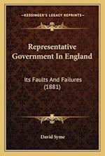 Representative Government in England af David Syme