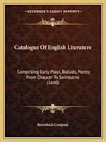 Catalogue of English Literature af Rosenbach Company