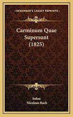 Carminum Quae Supersunt (1825) af Solon, Nicolaus Bach