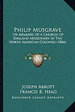 Philip Musgrave af Francis B. Head