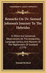 Remarks on Dr. Samuel Johnson's Journey to the Hebrides af Donald Mcnicol