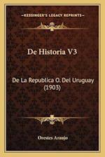 de Historia V3 af Orestes Araujo