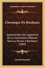 Chronique de Bordeaux af Geraud Marmisse