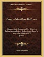 Congres Scientifique de France af Charles Des Moulins