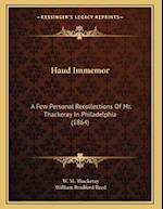 Haud Immemor af W. M. Thackeray