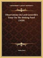 Observations on Lord Grenville's Essay on the Sinking Fund (1828) af Walter Boyd