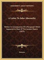 A Letter to John Abernethy af Humanus