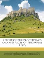 Report of the Proceedings and Abstracts of the Papers Read af John Dewar Cormack