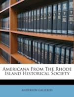 Americana from the Rhode Island Historical Society af Anderson Galleries