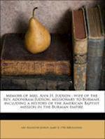 Memoir of Mrs. Ann H. Judson af James D. 1798 Knowles, Ann Hasseltine Judson