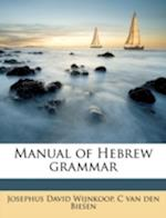 Manual of Hebrew Grammar af C. Van Den Biesen, Josephus David Wijnkoop