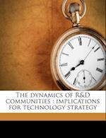 The Dynamics of R&d Communities af Michael a. Rappa