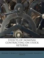 Effects of Nominal Contracting on Stock Returns af Richard S. Ruback, Kenneth R. French, G. William Schwert