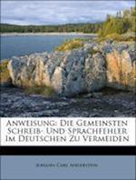 Anweisung af Johann Carl Angerstein