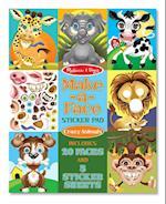Make-a-Face Sticker Pad - Crazy Animals (Melissa Doug)