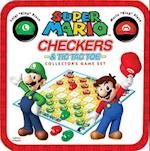 Super Mario Checkers & Tic Tac Toe Collector's Game Set af Usaopoly