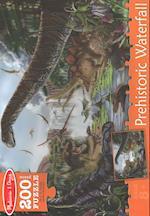 Prehistoric Waterfall Cardboard Jigsaw - 200 PC.