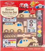 Decorate-Your-Own Rescue Vehicles Set