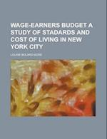 Wage-Earners Budget a Study of Stadards and Cost of Living in New York City af Louise Bolard More