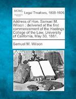 Address of Hon. Samuel M. Wilson