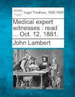 Medical Expert Witnesses