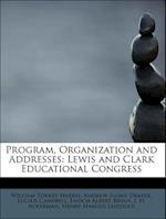 Program, Organization and Addresses af Lucien Campbell, Andrew Sloan Draper, William Torrey Harris