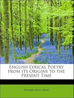 English Lyrical Poetry from its Origins to the Present Time