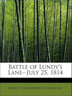 Battle of Lundy's Lane--July 25, 1814