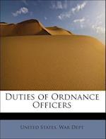 Duties of Ordnance Officers