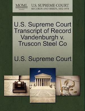 U.S. Supreme Court Transcript of Record Vandenburgh v. Truscon Steel Co