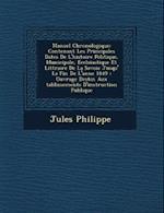 Manuel Chronologique af Jules Philippe
