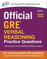 Official GRE Verbal Reasoning Practice Questions, Second Edition, Volume 1 (Test Prep)