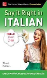 Say It Right in Italian (Say It Right!)