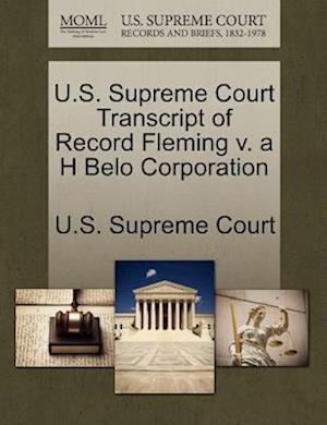 U.S. Supreme Court Transcript of Record Fleming v. a H Belo Corporation