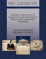 Sanders v. Bonomi U.S. Supreme Court Transcript of Record with Supporting Pleadings af John R Sanders, Michael Franck