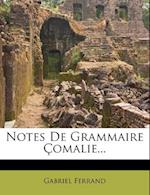 Notes de Grammaire Comalie...