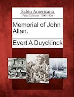 Memorial of John Allan. af Evert Augustus Duyckinck