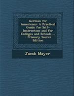 German for Americans af Jacob Mayer