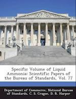 Specific Volume of Liquid Ammonia af C. S. Cragoe, D. R. Harper