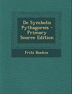 de Symbolis Pythagoreis af Fritz Boehm