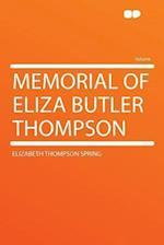 Memorial of Eliza Butler Thompson af Elizabeth Thompson Spring