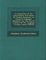 An Exposition of the Construction and Idioms of Chinese Sentences af Absalom Sydenstricker