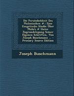 Die Personlichkeit Des Philonischen #. af Joseph Buschmann