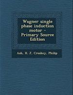 Wagner Single Phase Induction Motor - Primary Source Edition