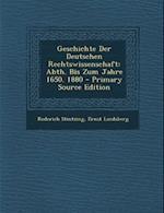 Geschichte Der Deutschen Rechtswissenschaft